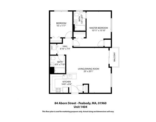 Picture 12 of 84 Aborn St Unit 1-404 Peabody Ma 2 Bedroom Condo