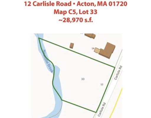 12 CARLISLE ROAD, Acton, Massachusetts, MA 01720, ,Land,For Sale,4943208