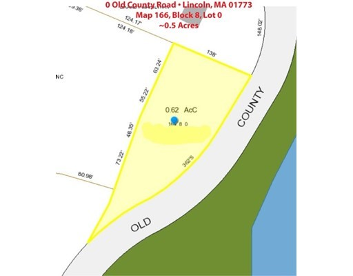 OLD COUNTY ROAD, Lincoln, Massachusetts, MA 01773, ,Land,For Sale,4943210