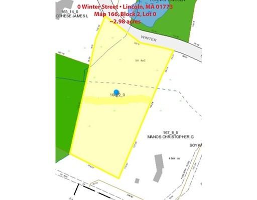 WINTER STREET, Lincoln, Massachusetts, MA 01773, ,Land,For Sale,4943211