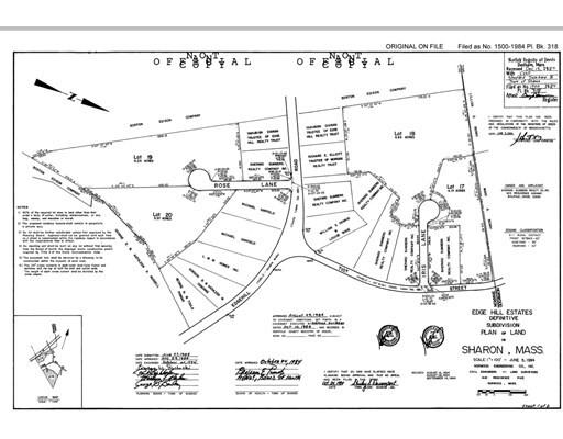 22 Tiot Street Lot 17, Sharon, Massachusetts, MA 02067, ,Land,For Sale,4939087