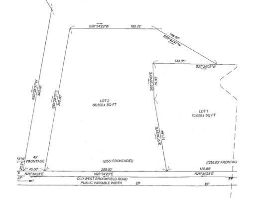 13 Old West Brookfield Rd, North Brookfield, Massachusetts, MA 01535, ,Land,For Sale,4950208
