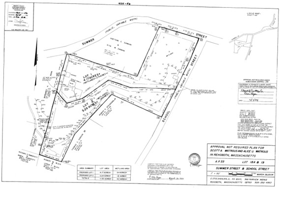 Gorgeous 3.29 acre lot located in the center of Rehoboth! Buyer to do due diligence. All testing and permits to be done by buyer