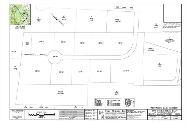 lOT 7 Wentworth Farms, Milton, MA, 02186, Milton Home For Sale