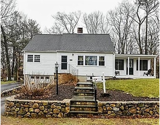 Welcome Home!  Picture-perfect Cape in the desirable Greenlodge area of Dedham!  This home features a spacious living room with a fireplace and picture window.  There is a large eat-in kitchen, with lots of space for cooking and dining.  Just off of the kitchen & living room, you will find a great addition, less than 2 yrs old! It is a  gorgeous sun room/family room, with cathedral ceiling, huge windows, a slider out to the back deck and a door to the farmers' porch in front!  There is also an updated full bath and 2 bedrooms on the first floor (one is currently being used as a dining room).  On the second floor are 2 more bedrooms,  and a half bath.  The over-sized master bedroom has a walk-in closet and nice built-ins. There is a full, unfinished basement and a one-car garage.  Lots of updates! (check out the list attached in MLS).   A very short walk to Greenlodge Elementary School!  Don't miss out on this charming home!  Showings begin on Saturday and Sunday at Open House.