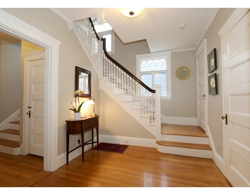 "Handsome Victorian-era Colonial on a commanding corner lot in the heart of Roslindale's Parkway District.  Lovingly cared for by its current owners who have painstakingly preserved detail, including lattice-patterned casement windows, high ceilings, elegant ""good-morning"" staircase and lustrous fir floors.  Roof replaced in 2016, heating system 2018.  Kitchen custom-designed in 2012 w granite and stainless and leads to a large deck with smashing views.  A sunny half bath sits handily between the kitchen and formal dining room which is graced with pocket doors and a Vermont Castings woodstove in the original fireplace. Upstairs, three generous bedrooms plus study and gorgeous brand new bath.  Two additional bedrooms on the top floor. Semi-finished basement offers a potential home office/guest suite with 3/4 bath, plenty of natural light, and direct access to a sumptuous backyard complete with patio and a secret grotto!  Previous buyer cancelled sale pre-inspection due to family issues."