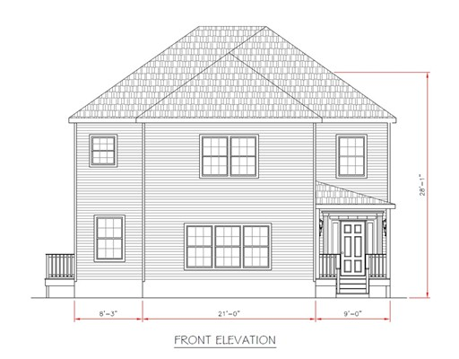 ** Last one left! **Don't settle for old when you can afford new! Why settle for a 1-car detached garage when you can have a 2-car direct entry? 3 new construction homes coming by local, quality builder. Excellent location near parks, shops, fast food, schools + only 4 mi to I-93 & less than 8 mi to downtown Boston! Upscale living with spacious rooms. Large walk-in closets and ample parking. Entertain/bbq out back in huge, playground-size back yard with deck. Warm by the gas fp which is flanked by built-in bookshelves. Bright, open-flowing design boasts gleaming hardwoods, 2nd floor laundry, stunning stainless steel kitchen open to fireplaced family room w/slider to 14x14 deck. See street view photo of subdivision. 1st lot next to Florist on right already spoken for. This middle lot still has an existing house to be torn down - photo shown as point of reference. Irreg lot size - 66x136x19x52x38x195. Hurry, customize while you still can. See attached PDF's for enlarged plans.