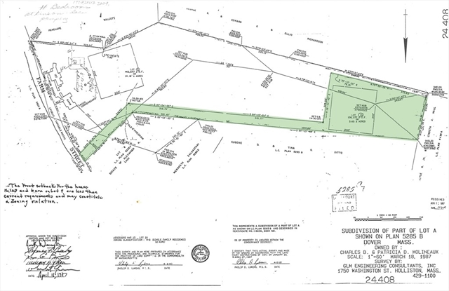 0 Farm St. Lot 10, Dover, MA, 02030, Dover Home For Sale