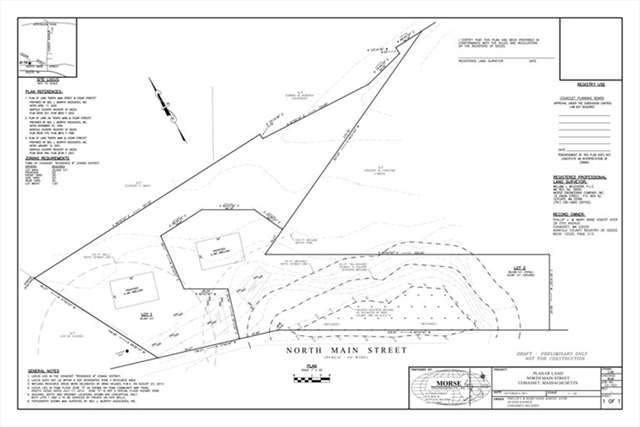 Lot 1 North Main Street, Cohasset, MA, 02025, Cohasset Home For Sale