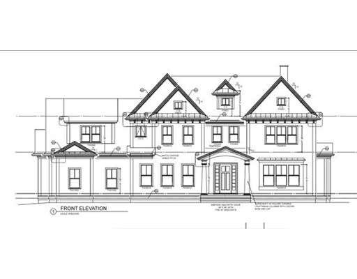 Shingle Masterpiece featuring two balconies overlooking peaceful setting!  Custom designed and excuted by premier Boston architect and developer team.   Packed with Old World detail including quartersawn oak and 10' ceilings. Stunning quartzite Kitchen with custom floor-to-ceiling cabinetry, large island and Breakfast Bay with cathedral ceiling. Magnificent Master Suite includes cozy Sitting Room with fireplace and French doors to Balcony, creating the perfect spot to retreat with your morning coffee! Private, level landscaped grounds with over-sized bluestone Patio. 3-car Garage with expansive Mudroom.  Excellent location near commuter routes and conservation.