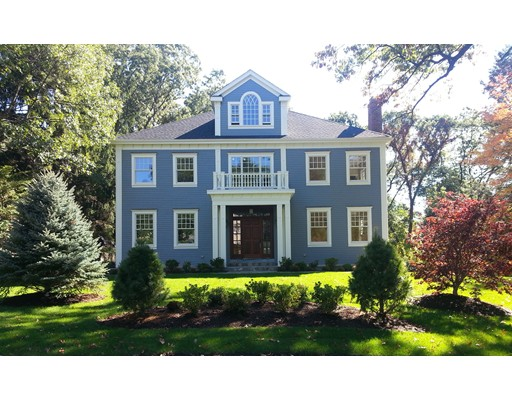 Spectacular 2016 Custom Colonial on prestigious Marsh Street. Builder's own home with meticulous attention to detail. 7,300SF on nearly 18k SF lot. Elevator to all floors, open floor plan, top-quality custom finishes. High ceilings throughout with 2-story foyer. Stunning Kitchen with custom cabinetry, huge island with Carrara marble countertops & backsplash, Subzero refrigerator, Wolf range, breakfast nook, large Storage Pantry & Butler's Pantry adjoining formal Dining Room. All season Sunroom, custom wall unit & gas fireplace in Family Room, home Office/Library on first floor, formal Parlor with wood fireplace & gorgeous mantle. Five Bedrooms, all with Ensuite Bathrooms. Master Bedroom Suite with sitting area, gas fireplace, spacious Carrara marble bathroom with steam shower, air bathtub & custom double vanity. Spacious private Bonus Suite in attic with vaulted ceilings, large bedroom, full bathroom & storage. Lower level with 3 car garage, mudroom & additional finished rooms.
