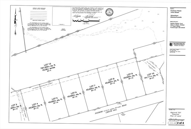 Lot 5 Foxboro Road, Wrentham, MA, 02093, Wrentham Home For Sale