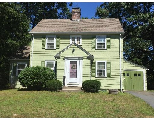 Available for the first time in over 50 years! Gracious center entrance colonial in desirable ENDICOTT ESTATE area of OAKDALE. Commuter's dream home!  Close to schools, major highways, shopping centers and a short walk to the ENDICOTT COMMUTER RAIL. The first floor features an eat-in kitchen with PANTRY, a large front to back fireplaced living room, formal dining room with built in china cabinet and a den off the living room. The second floor contains three good sized bedrooms and a full bath. There are HARDWOOD floors throughout the home. Nice deck overlooking large .28 acre lot. Updates include newer architectural shingled roof and newer WEIL MCLEAN high efficiency oil fired boiler with Becket advanced burner control. Needs some updating but well worth the effort to own in Dedham for under 500K!