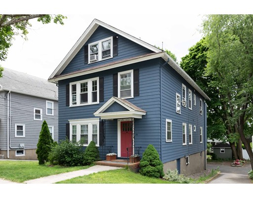 Just under 2000 SQ FT!!  Interior town  house , second and third floors!  4 bedrooms!! 2 full baths.one car garage  under. Attractive décor.  City living  with  space of a single  family  home! Sought after residential neighborhood very proximate commuter rail,  restaurants, churches, shopping, bus line . gas heat for second floor, third floor separate oil furnace. A must see!   Easy to show by appointment or  Open house  SUNDAY  OCT 21  2-3:30 Don't miss this one. Third level can provide bedroom, office,  library   full bath!  Au Pair or in law possibilities., great multigenerational  applications!
