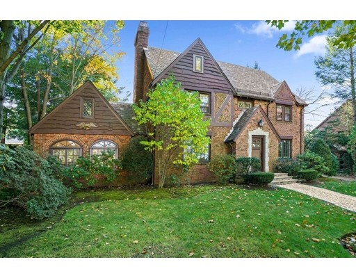 SIGNIFICANT PRICE ADJUSTMENT! Stunning Brick Tudor home on one of the prettiest streets in the Baker school district.This home has been extensively renovated incorporating today's finest materials and finishes. Complete with a state of the art Bespoke Chef's kitchen from France, with a quartz center island that seats 18. Incredible guest suite with spa-like bathroom. New hardwood flooring and tile throughout. All new windows and doors. New HVAC, electrical and plumbing. 5 bedrooms, 4.5 bathrooms. Beautifully landscaped private yard with patio. Perfect for outdoor entertaining. Large 2 car detached garage with storage room above. Minutes to the Baker School and area private schools. Close to shops and restaurants at The Street and Chestnut Hill Square. Short commute to Longwood Medical Community, Boston and Cambridge.