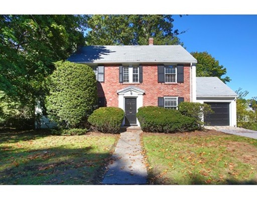 This wonderful home offers a prime opportunity to purchase in the coveted Chestnut Hill Historic District near the Reservoir and renovate to your own taste.  Located less than a mile from the B, C & D lines, it offers extremely easy access into Boston and is situated in a buffer zone for Ward & Bowen Elementary schools.  The gently sloping 10,701 sf lot provides a lovely setting for this 1941 Colonial. To the left of the foyer is a front-to-back living room with a fireplace & glass-paned doors to a cozy den and an enclosed porch with steps to the yard.  Across the foyer is a nice dining room with access to the spacious kitchen. Off the kitchen is a breezeway leading to the driveway and attached one car garage. A powder room completes this level. On the second floor is the front-to-back master bedroom with a walk-in closet. There are two more nicely sized bedrooms on this level, along with a full bathroom and unfinished storage room. The basement houses the laundry and systems.