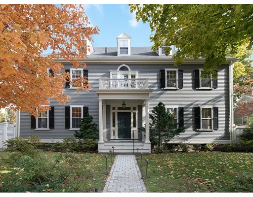 Beautiful cul-de-sac in Cambridge's prestigious Brattle area. Impressive 1899 Colonial Revival single-family residence perfectly sited to benefit from natural light throughout the day. Luxuriously renovated. Comfortable and elegant. A summary of sophisticated buyers' goals: gracious & open reception rooms; excellent floor plan allows for wide variety of activities; abundant natural light & oversized windows; many bedrooms, studies, & baths; superb connectivity of concert-quality audio/video, internet; lighting and temperature control throughout the house. AC. Professional-grade eat-in kitchen with multiple exposures, abundant work & storage space, and top-quality cabinetry. Aga stove & a 5-piece set of Sub Zero refrigeration for produce & wine storage. Finished basement ideal for movies, games, home gym, & workshop. Garden. Paved patio. Porch. Driveway with multiple sockets for electric car adaptability. Meticulously maintained. Very special offering.