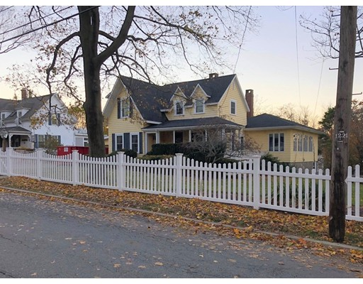 Once the home of famed artist, Jon Corbino, this charming Victorian Farmhouse with a wrap around front porch and white picket fence is picture perfect!  This home offers four bedrooms. One of the bedrooms and 3/4 bath are on the first floor, convenient for an in-law, guest suite, or one level living. There are two fireplaces, attractive coffered ceilings and beautiful wood floors.  The kitchen has a breakfast bar and is open to the dining room, offering vaulted ceilings and a wall of large windows that let in plenty of sunlight.  Step out from the kitchen onto the side deck and spacious fenced yard.  There is plenty of parking including a car port.  This home is located in Rockport's most desirable South End; such a beautiful area with avenues along the shoreline. Old Garden Beach, Bear Skin Neck, (specialty shops, boutiques, artist studios, and eateries), the famous Shalin Lui Performance Center and Rockport Golf Club are all nearby.  Showings begin Friday, Nov. 23rd.