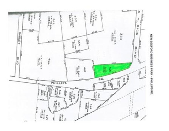2 acres of Industrial C Zoned Land For Sale. 60 day permit approval. Low cost building & equipment financing. Property tax discounts, sales investment tax credits. Corner Lot to Main Entrance of the New Bedford Business Park. Park Advantages include: Modern Telecommunications Infrastructure, Child Care, Bank, Restaurant, Park Security , Protective Covenants, Bus Service to and within Park, plus CSX Freight Rail Line running through Park.  2 acres of Industrial C Zoned Raw Land near main entrance of New Bedford Business Park.Drawings in Hand for a proposed 2950 square foot building with possibility for 2nd level and  22 parking spaces  .