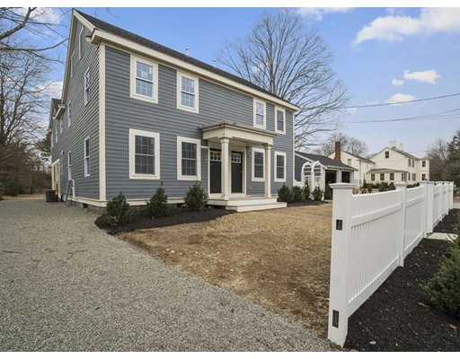 1st OPEN HOUSE SUNDAY 2/3 from 12-2pm. Nestled among similar historic homes in Precinct 1, this completely renovated townhouse (completed in 2019) is located on a quiet lot in Dedham. The original house was recently expanded and converted into 2 three bedroom condominiums. Enjoy the conveniences of the oversized mudroom with natural light that carries into the adjacent kitchen. Additional features include gleaming hardwood floors, stainless steel appliances, granite counter tops, and a brand new heating system with central air and gas fired tankless hot water. The unfinished basement provides ample storage space. The three spacious bedrooms on the second level have vaulted ceilings. Centrally located with easy access to Dedham Square and its many restaurants, boutique shops, and famous movie theatre. Five super markets, Legacy Place, University Avenue and commuter rail service. Unit includes 1 garage bay and plenty of outdoor space for pet lovers.