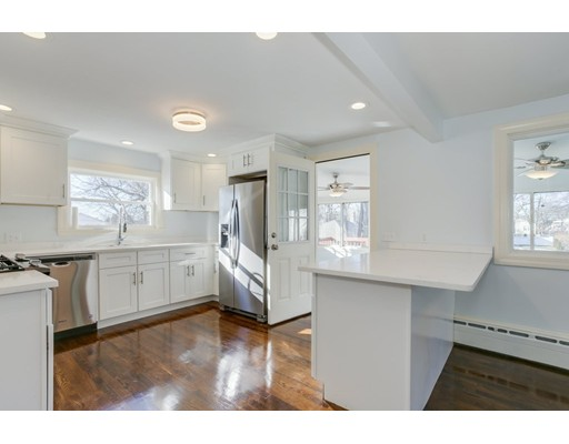 Don't miss this 3-bedroom Cape in one of West Roxbury's most convenient neighborhoods. Walk in and enjoy the fully renovated kitchen including stainless steel appliances, custom cabinetry, and quiet-close drawers open to a lovely dining room and family room with a woodburning stove. The second level includes two large bedrooms including the master with a brand new bathroom. In addition, you'll find a huge finished basement. Outside enjoy a lovely deck overlooking the backyard. Plenty of parks, shopping, and restaurants nearby, plus easy access to Washington Street, VFW Parkway, I-95 and close to public transport.