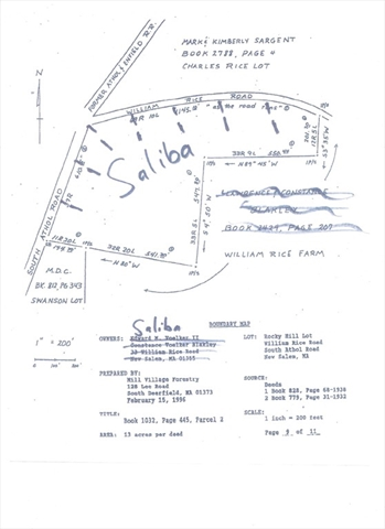 Lot 1 William Rice Road New Salem MA 01355