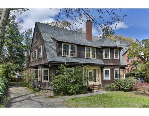This historic house designed in unique New England Shingles Style with complex roof line and large bay windows is a hidden treasure located in the heart of Chestnut Hill. Its exterior grandeur is reflected in design and details of interior space. The  house has been extensively renovated and meticulously maintained by its owners. It combines a beauty of a traditional house with modern technology. Original hardwood floors have been restored through the entire house. New kitchen with granite counters is equipped with built-in sub-zero refrigerator and Wolf appliances. New electrical wiring and new lighting have been put in in every room. There is a special place for everybody. A large deck in the back and fenced yard are a perfect getaway during hot summer days or family gatherings.The house is located in 10 min.walking distance to Chestnut Hill reservoir with walking trails, and few minutes away from public transportation.