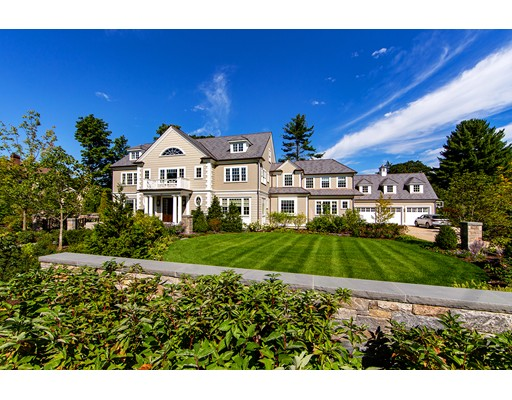 Magnificent Chestnut Hill seven-bedroom residence completed in 2017 by award-winning design and build team. Close to Boston and walking distance to the Country Club, this masterfully designed home is located in one of Brookline's most exclusive enclaves. The 10,000+ square foot residence was designed by renowned architect Tom Catalano and built by Pioneer Construction. State-of-the-art systems and luxurious fixtures and finishes were chosen by the current owners who have just completed an extensive 18-month enhancement. The master bedroom was redesigned to include new wall-to-wall cabinetry, fireplace with floor-to-ceiling surround, new master closet with island, and new master bathroom. Finished lower level, staff quarters, in-law suite, office, gym, sauna, sport court, pool with auto cover, and beautiful entertaining spaces add to a long list of upgrades to this stunning residence.