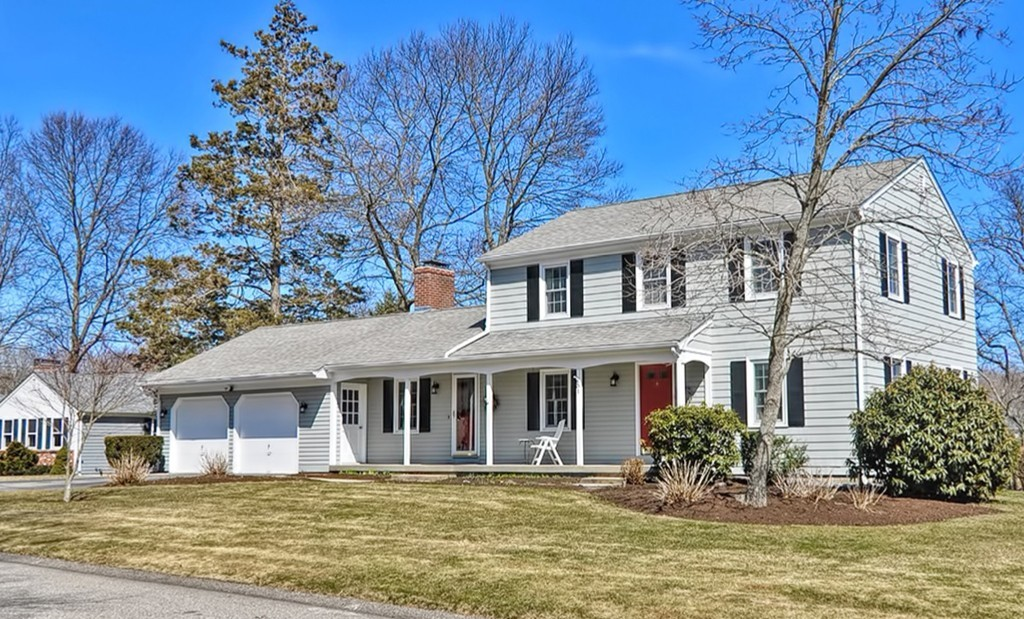 This picture perfect Seekonk Colonial has everything you have been looking for! Updated kitchen and baths and an amazing open floor plan for entertaining and everyday living! The 15 x 15 sun room with cathedral ceilings was added in 2011 and allows beautiful natural light to pour through the back of the house.The granite kitchen was updated in 2013 with new cabinets, counters, under cabinet lighting and island seating with pendant fixtures! The circular flow of the first floor is amazing as the rooms are spacious and open.Front to back family room with fireplace overlooks the sun room and is open to kitchen and dining. Hardwoods featured throughout the first and second, new windows and roof in 2008, both bathrooms updated in 2007, new exterior paint and trim 2018, central air and new highly efficient natural gas heating system! The mature landscaping compliments the house well as is sits in a beautiful, quiet and convenient location within walking distance to Martin Elementary School.