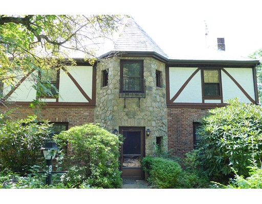 "Chestnut Hill Brookline! Fabulous location near Baker School, Putterham, ""The Street"" shops and restaurants; minutes to downtown and to the Longwood area. This house, lovely brick Tudor with a slate roof, has almost 3,000 square feet of living space. The 1st floor offers a formal dining room, large eat-in kitchen, a spacious family room with a fireplace, a bedroom, and a full bathroom. The 2nd floor has 2 bedrooms with a shared bathroom, a linen closet, and a large master bedroom with its own bathroom and walk-in closet.  It also has a great octagonal room, which can be used as an office or a library. Hardwood floors throughout. The basement is partially finished and has a  beautiful fireplace, a laundry room, and a direct entry to the oversized 2-car garage. Lovely large backyard . The house needs TLC but has a great potential. Amazing opportunity for the right buyer!  Sold ""as is."" Seller may need to rent back up to 6- 8 weeks after the sale is complete."
