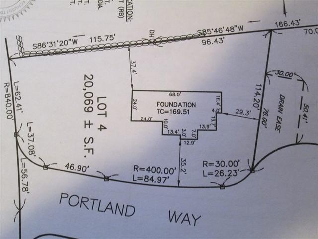 Lot 4 Portland Way, Walpole, MA, 02081, Norfolk Home For Sale