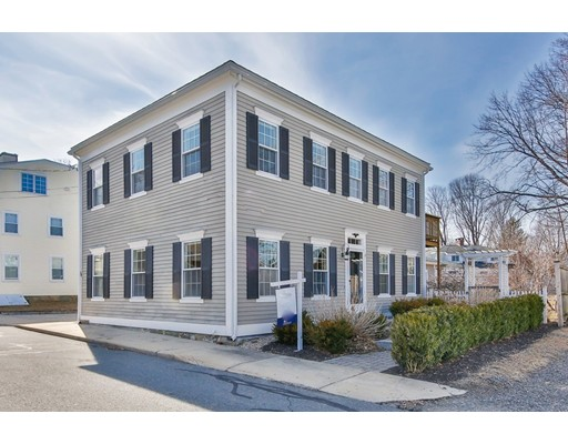 Live the Newburyport lifestyle in this sweet South End location with beautiful water views!  Leave your car at home and walk along the river basin to everything the city has to offer!  Professionally landscaped grounds include a custom patio, sitting wall, large pergola and private access to the Rail Trail. This updated colonial offers a modern, open concept design and flexible floor plan. Granite and stainless kitchen with custom cabinetry opens to an expansive family room with a gas fireplace, cathedral ceiling and french doors leading to a large, fenced yard. The main living level also includes a spacious dining room and a large living room with a second gas fireplace. The master suite includes a bath with custom tiled shower, built-ins, and a dressing area. Steps to the sea wall at Joppa Park, a short stroll to downtown Newburyport and minutes to Plum Island and the commuter rail. The large lot offers excellent potential for expansion. Schedule a private showing today!