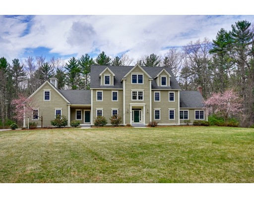 Spectacular and extra special best defines this wonderful dream home!  Beautifully sited on 2 glorious acres at the end of a cul de sac, proudly sits this young home of distinction!  From the moment you enter you will be instantly impressed with the fine detail work, high ceilings, exquisite millwork, and stunning appointments. The heart of the home is the chef's dream kitchen with an abundance of cabinetry, professional grade appliances, and marble counters. Plus a breakfast room that will make your heart sing! The floor plan is wonderful, boasting a cathedral ceiling floor family room with a floor to ceiling massive granite fireplace, first-floor study with tray ceiling and gas fireplace, banquet size dining room, a first-floor bedroom with direct access to a full bathroom. The 2nd floor offers a master suite that you would see in a magazine, with custom closets.  All 4 bathrooms are spa-like and exceptionally well done. Full walkout basement and walk up attic complete this showplace