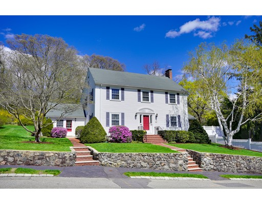 Classic Colonial on private road in desired & sought after Jason Heights. Enjoy the summer in the backyard oasis w/1900 Sq Ft Trex deck abutting 35 acre Menotomy Rocks Park. Comfortable screened porch off the living room. Dining room with corner built in cabinets. Two fireplaces in classic living room & basement family room to choose from for those cold winter nights. Stunning eat in kitchen w/LG Stainless Steel appliances & breathtaking back yard views of professionally landscaped yard w/nightlighting. Freshly painted, hardwood throughout. Relax in Jacuzzi tub in large master bath overlooking tranquil back yard & forest. Navien hot water / 4 zone heat combo system, central A/C, spray foam insulation keep energy costs low. Two family rooms in basement connect to the two car garage. Full walk-up attic for storage. Close access to highways, buses, town center, Brackett School, 1.7 miles to Red Line Alewife T Station, 15 minutes to Fenway Park, downtown Boston, Harvard, MIT and MGH.