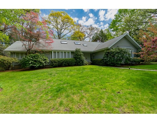 NEW PRICE! Great opportunity to live in sought after Brookline, Chestnut Hill! Heath School district. Sprawling Cape on a private 23,780 sq.ft. corner lot surrounded by mature trees & beautiful plantings. This gracious home is waiting for its new owners to add their personal style and updates. Open floor plan with sun-filled living, dining and family room. A large eat-in kitchen leads out to a bluestone patio and expansive yard. This home offers 3 ensuite bedrooms on the first floor. 2nd floor has another ensuite bedroom and large open area with skylights. There is plenty of room to add another bedroom on this level. Partially finished lowered level with laundry, abundant storage and direct  entry  2 car garage. Minutes to the Chestnut Hill T, shops, restaurants & Longwood Tennis Club. A short commute to the Longwood Medical area, Boston and Cambridge.