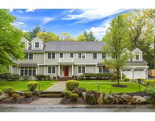 IMMACULATE ESTATE WITH STUNNING GROUNDS & HEATED POOL!!! This prestigious Myopia Hill address is an incredible Colonial set on an acre of land, affording privacy & tranquility. The home features a grand foyer, elegant dining room with fireplace, a chef's kitchen, and a vaulted breakfast nook; perfect for all your entertaining needs. The adjoining living & family room boasts soaring ceilings, natural light streaming through oversized windows & an impressive stone fireplace. The 2nd level features 4 spacious bedrooms, including the grand master suite with elegant master bath & dream walk-in closet.  2nd floor mezzanine game room, 3rd floor open office loft, home gym area,