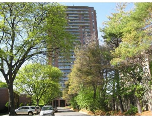 Welcome Home to a full service lifestyle at Jamaicaway Tower and Townhouses.  This spacious 2 bedroom unit with a full bath on the 15th floor provides spectacular views.  The living room features a wall of windows and balcony that lets wonderful sunlight in and gives a feeling of a much larger unit!  Newer heating units installed.  This unit is in working condition and could use todays modern updates to really bring it to today's real estate standards.  Other units in the building with upgrades have sold for substantially more money.  So bring your remodeling wizardry here and turn this into your next project.  The monthly co-op fee includes real estate taxes, heat and ac, hot water along with a great concierge staff.  On site management along with a heated inground pool, tennis and exercise and a club room for functions.  With everything so close, just walking distance from the front door, finish this great location.