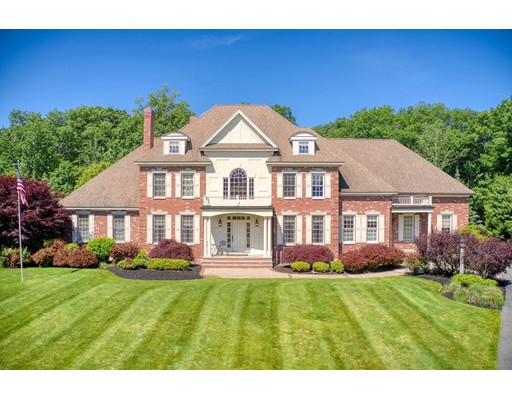 SPECTACULAR Williamsburg Brick Colonial Estate built in 2002 features over 5,000 square feet of living space. This stunning residence is situated on 1.33 manicured acres at the end of a cul-de-sac. Upon arrival you are greeted with sweeping lawns, gardens, patios and copper gutters. The two-story foyer offers a stunning entrance with an adjacent sun filled two-story great room and dining room with attached butler's pantry. The main level comes equipped with a gourmet kitchen, solid counter-tops, master bedroom and hardwood floors. The upper level boasts 4 additional bedrooms, 3 bathrooms, huge landing and stairs leading to the third floor - unfinished. As you enter the backyard there is an expansive patio with outdoor kitchen and wood burning pizza oven. The backyard is also meticulously landscaped with a heated in-ground pool. As if there wasn't enough space above grade, the home also includes a finished lower level with a media room, billiards room and exercise room.