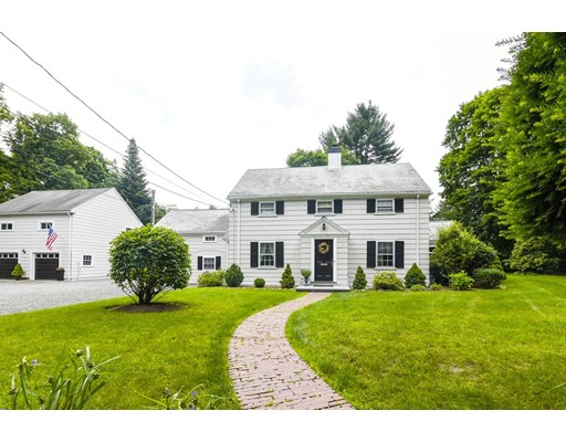 This is The One you've been waiting for!  Gorgeous Colonial in Precinct 1 located on a large corner lot!  This 4 bedroom, 3.5 bath  home is full of charm and beautiful detail. As you enter through the front door, you will find a front to back living room w/ original wood work, fireplace & built-ins. Amazing 1st floor office with 3 walls of huge windows! The large eat-in kitchen features an island, sky lights & lots of cabinet space.  Also on the main level there is a pretty dining room & powder room, as well as a large family room w/wood stove.  As you go up the main staircase, there is a large master bedroom with its own updated full bath. There are also 2 more bedrooms and another updated full bath. Don't miss the au pair suite with its own stair case, full bath & custom closets!  Over-sized 2 car garage with an expansive walk-up 2nd floor with endless possibilities, plus a separate shed for your tools!  Gorgeous yard with lots of privacy!