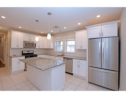 Spacious remodeled 3 bedroom plus den/study/office with hardwood floors and contemporary designer color palette.  Kitchen and baths have white shaker style cabinets with granite counters.  The kitchen has a large center island and stainless steel appliances. Short distance to commuter options. This area of Quincy is perfect for access into the city and area highways.  Tenants are required to have a 650+ FICO score, debt/rental ratio not to exceed 55%, no late payments last 12 months, no prior or current/active evictions. Easy online application process, applicants will be asked to share a Zumper.com profile shared with landlord or supply a recent credit report with full payment history and amounts of payments..