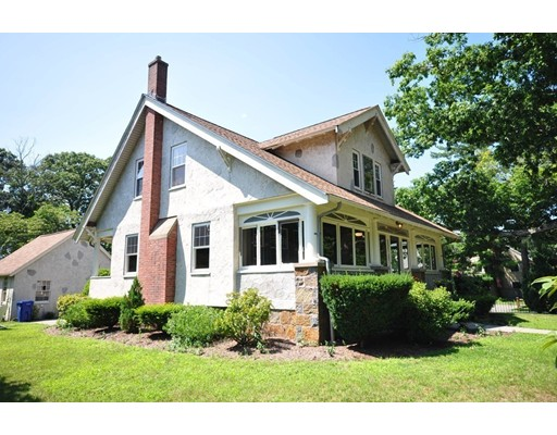 Painstakingly restored, this gracious but manageable home has hit the market -- and it won't last long.  This charming Craftsman is a stroll to parks, Milton Academy, and exceptional public elementary schools, which offer a French immersion program.  The bones of this 1920's beauty embody quality of design and construction that translate now to a whimsically inviting home that is rarely found at this price-point.  How can you describe a unique, elegant, and warmly inviting property such as this?  Details surprise around every corner -- and the thoughtful updates by local artisans make it made for modern living, while preserving character that cannot be manufactured.  This special home is indeed a rare find and worth a look for anyone who avoids the ordinary.  Near routes 93 and 95 and situated on nearly a quarter of an acre, this home is not to be missed by buyers seeking simple exuberance, quality, and an incredible location.