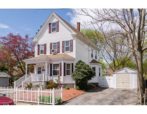 NEW PRICE TO SELL! Great opportunity to own a well maintained stately Colonial in 5,621 sq.ft. of land, just minutes from Roslindale Square. This home features 8 rooms, 5 bedrooms,  an elegant living room and formal dining room with bamboo wood floors, eat-in kitchen and a half-bath on first floor. Three bedrooms and full bath on the second floor and  two extra bedrooms on the third floor. Seven-year old roof,  laundry room/mud room on first floor and semi finished basement. Enjoy the oversized yard ideal for entertainment and gardening. One car garage and ample driveway. Close to transportation (commuter rail), zip cars, shops, restaurants, parks and everything else this convenient  location offers.Open House's Sat. 8/24 (12-1:30 pm) and Sun. 8/25 (1-3 pm).