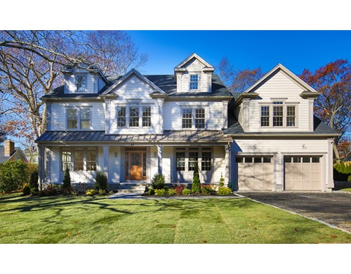 Spectacular new construction on Belmont Hill by sought after builder! This gracious home will WOW you as soon as you walk in. The 1st level features a living room, dining room, a family room w/ fireplace, a large kitchen with custom white cabinets and white Quartz counter tops, wolf wall oven & 6 burner gas range, Sub zero french door refrigerator & huge island and access to yard and patio, an office, and bedroom suite with bath. The 2nd floor has 5 bedrooms including the master and 2 en suite bedrooms, a laundry room and an additional bath. The attic level has another bedroom/bonus room and full bath.The home includes amazing features such as high ceilings, custom built ins, coffered ceilings, and crown molding. The lower level has gym, playroom, bedroom and bath. There is a 2 car garage and large level yard.