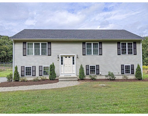 This ranch home sits on a 2.65 acre lot on a private road less than 2 miles from Route 24 and less than 2 miles from I-495. And with a less than 10 mins drive to Supermarkets, Department Stores, Pharmacy, Hardware Stores, and  Gas Stations, the location is part of the excellent Bridgewater-Raynham school district.  The home offers cathedral living room, dual pane windows and energy efficient appliances, bright sunny kitchen with granite counter tops, ample space for food prep, extra pantry shelving, professional-grade stainless steel appliances. Slider opens to patio that overlooks the property with tremendous potential for making it your permanent home.    No Showings until OPEN HOUSE on Saturday 9/14 from 1pm-3pm & Sunday 9/15 from 11am-1pm.