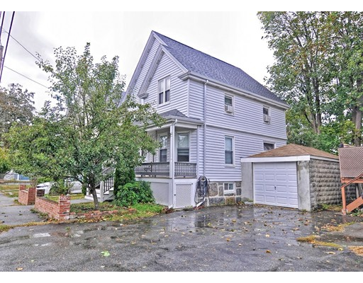 Location! Location! Location!! 1915 Colonial home with a living room, dinning room and Eat-in kitchen on the first floor and 3 bedrooms on the second floor. Total complete renovation including the pluming, electrical, insulation, walls, roof, kitchen, two full bathrooms and all the flooring have been upgraded. Finished basement can be used for a family room, office or gym. Easy to manage yard includes a driveway and garage. Property is convenient to shopping, Stop and Shop, Marshals, Asian Market, restaurants, coffee shops, elementary schools, parks, expressway and 8 minutes to the Wollaston Red Line station.......The first showing at open house 10/13.