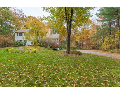 This young Colonial offers the option of a first and 2nd-floor master suite. This impressive home is situated on almost 6 acres with frontage on a