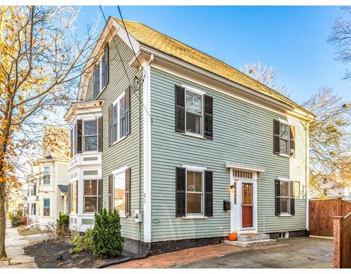 1st SHOWINGS AT OPEN HOUSES FRI 11/15 5:30-7PM, SAT 11/16 10:30AM-12PM & SUN 11/17 10:30AM-12PM. A warm and welcoming 5 bedroom, 1.5 bathroom home in Newburyport's sought after South End neighborhood awaits its new owners.   This perfectly appointed home boasts a granite and stainless chef's kitchen, an adjoining sunroom, an open concept living and dining area, perfect for entertaining and a  bonus room great for a 1st floor bedroom, playroom or office.  The second floor features a beautifully renovated bathroom with double sinks and custom tile and four lovely bedrooms.  The walk up attic features an additional bedroom and plenty of space waiting to be transformed a grand master suite. There is a gorgeous, fenced backyard with a generous deck, shed, and stone patio great for lounging and enjoying the outdoors.  This stunning home is just minutes from downtown Newburyport, the Rail Trail, the Merrimack River and the MBTA to Boston.