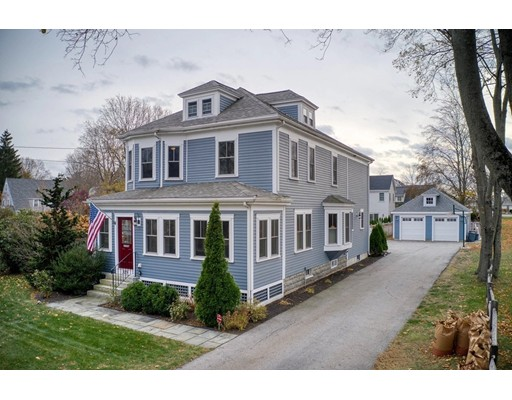 This American Four Square sits quietly but distinctively on prestigious High Street in Newburyport's highly desirable North End.  With an eye towards today's lifestyle, the design and light filled open floor plan are perfectly suited for both family living and entertaining. Completely renovated and enlarged to include a gorgeous kitchen appointed with an over-sized kitchen island & pantry, 2nd floor laundry room, mudroom, incredible master suite, finished attic space suitable for multiple purposes, and finished basement featuring a wet bar. Some of the amazing extras that make this home so special are crown mouldings, high ceilings, pocket doors, and new wood flooring throughout the first floor,  Complimenting the home is a fantastic 4 year old inground pool, hot tub/jacuzzi, sprinkler system, invisible fence, and oversized detached garage. Close proximity to Newburyport schools, parks, and river.  Don't Miss Out!
