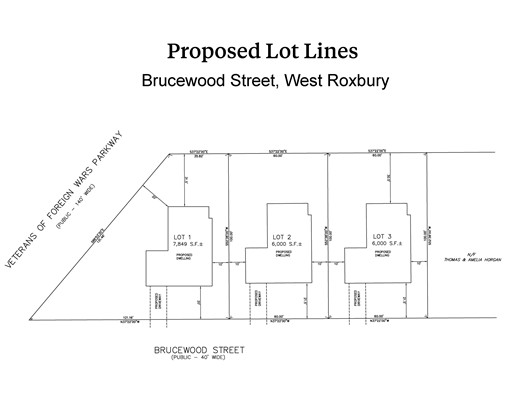 55-59-63 Brucewood Street (3 Lots), Boston, MA 02132