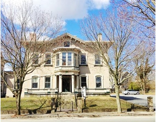 This beautiful historic office building in the Center of New Bedford is now FOR SALE ! Formerly the Barton-Ricketson House,this handsome Italianate-style building offers a rich & storied history. Originally occupied by a whaling merchant, banker & two judges,it currently is owner occupied by a growing engineering firm relocating.This 2 story brick building is close to downtown, 3 courthouses & has easy highway access. There is ample on-site parking for 20+ cars,& is handicap accessible! Ideal location for insurance,,lawyers, counseling,non-profits,accounting firm, etc.The professional office & conference space provides a grand-scale double conference room with french door dividers,an impressive library room with detailed wood paneling & built-ins, 9 fireplaces w/ period marble surrounds,numerous offices including a large corner office, kitchenette & built-in bar,a welcoming reception room & 2 restrooms & private patio area. Separate garage ,New efficient gas furnace & new roof too!